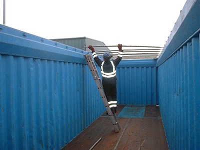 Fleet Management - Container canvas roofing fitted